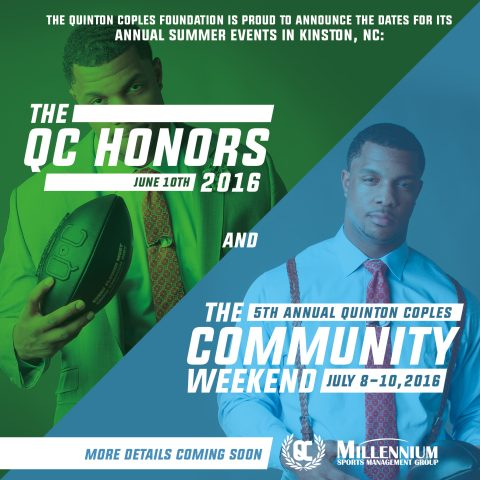 The QC Honors Gala is THIS Weekend, and The Quinton Coples Community Weekend is Fast Approaching!