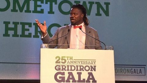 Damon Harrison Receives Hometown Hero Award at 25th Annual United Way Gridiron Gala